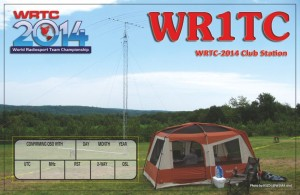 Front of WR1TC QSL Card