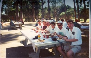 Competitors meet at team village in WRTC 1996 San Francisco