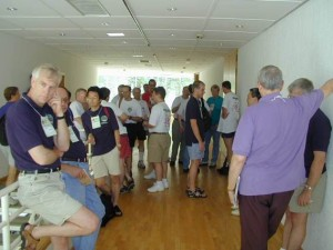 Competitors meet at team village in WRTC 2000 Slovenia