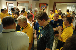 Competitors meet at team village in WRTC 2006 Brazil