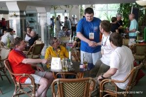Competitors meet at team village in WRTC 2010 Moscow