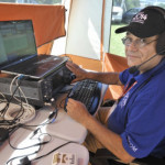 Krassy Petkov competing for a US team. Wrentham was one of the 16 New England Communities to host International Radiosport Competition. Teams were setting up for the event at locations around the Wrentham Developmental Center. (Sun Chronical photo)